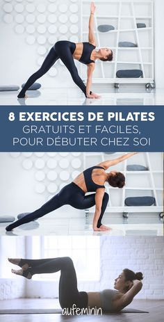 Les explications en détail… What pilates exercises can I do at home? The explanations in detail for an easy and free pilates course at home. Learn the basics of Pilates yourself Pilates Workout Routine, Pilates Training, Cardio Hiit, Fitness Del Yoga, Sport Fitness, Fitness Tracker, Physical Fitness, Exercise Fitness, Health Fitness