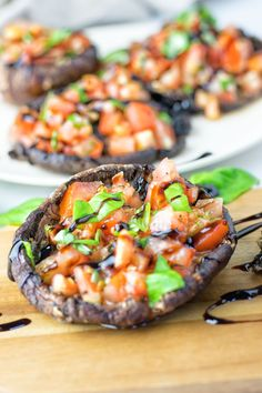 Portobello Mushroom Bruschetta   #vegan #glutenfree #contentednesscooking