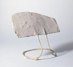 FRANZ WEST / Adaptives / Paßstück ca. 1980 Metal, plaster and paint 11.61 x 13.78 x 8.66 inches, 29.5 x 35 x 22 cm