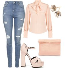 A fashion look from March 2015 featuring Alexander McQueen blouses, Topshop jeans and Ippolita earrings. Browse and shop related looks.