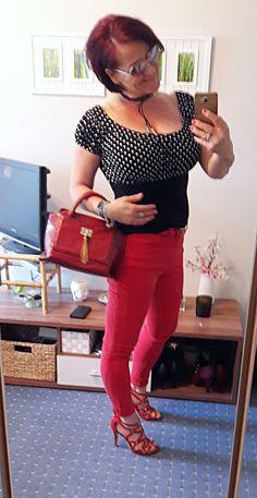 Die 8 besten Bilder von rote jeans outfits   Rote jeans