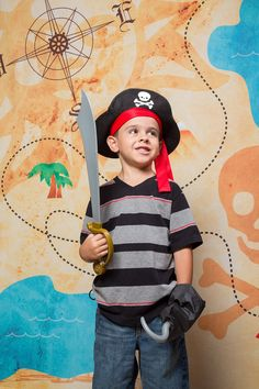 Hang a Pirate Treasure Map Backdrop up at your child's next birthday party for a super fun pirate themed event! Starting at $84.95