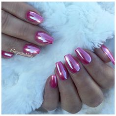 Pink Chrome Nails by MargaritasNailz