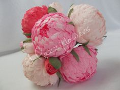 Bridal bouquet wedding bouquet paper flower by Mazziflowers on Etsy, $38.00