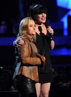 "Melissa Etheridge and Pauley Perrette announce Record Of The Year nominees on ""The GRAMMY Nominations Live!! — Countdown To Music's Biggest Night"" on Dec. 6 in Los Angeles"