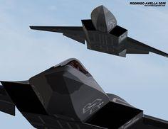 Sixth-generation fighter based on the model of Lockheed Martin for AFRL ESAV studies