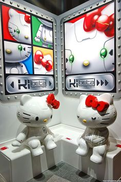 "Hello Kitty ""Kittyrobot"" Exhibition in Tokyo – 150+ Kawaii Kitty Pictures! [Kitty Robot by Hello Kitty] - Dafuq I really love this! ♥"