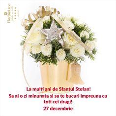 Felicitari Sfantul Stefan - felicitare virtuala de Sfantul Stefan https://www.floridelux.ro/flori-pentru-ocazii/flori-cadouri-sarbatori/flori-cadouri-sf-stefan-27-decembrie/