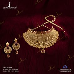 Get in touch with us on 990 444 3030 Gold Bangles Design, Gold Jewellery Design, Gold Jewelry, India Jewelry, Diamond Jewellery, Gold Mangalsutra Designs, Necklace Set, Gold Necklace, Antique Necklace