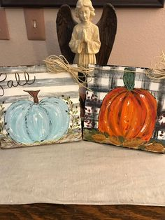 Country orange pumpkin distressed wood handpainted black and Fall Canvas Painting, Canvas Painting Tutorials, Autumn Painting, Autumn Art, Diy Painting, Fall Paintings, Canvas Paintings, Canvas Art, Pumpkin Painting