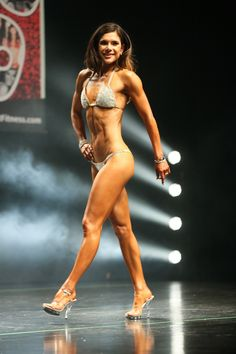 """Most competitiors, like me here, are """"dry"""" when they hit the stage. Npc Bikini Prep, Bikini Competition Prep, Figure Competition, Fitness Competition Training, Physique Competition, Bikini Workout, Bikini Fitness, Aria, Bodybuilding Competition"""