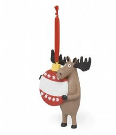 $7.99-$7.99 Hatley Moose Hug Christmas Ornament - Adorn your Christmas tree with Hatley critters! Painted resin figurine. Features a small metal hook for hanging with red shiny ribbon loop. Resin. http://www.amazon.com/dp/B005KBTUAK/?tag=pin2wine-20