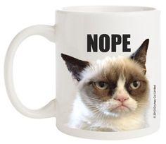 Ganz Grumpy Cat Coffee Mug, Nope Ganz http://www.amazon.com/dp/B00HW27KQQ/ref=cm_sw_r_pi_dp_4d0Ytb11WRR32G18