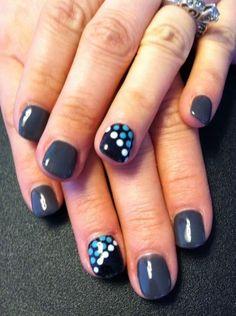 Gray, black, dots