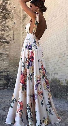 Vestidos de flores largos de fiesta