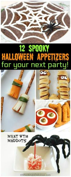 Halloween Appetizers will light up your tastebuds for the best Halloween Party Food! Halloween Dips and Treats make the best Spooky Halloween Party!