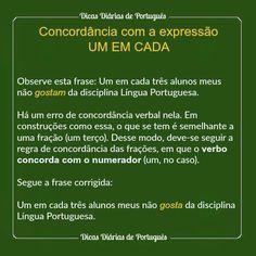 Concordancia Verbal Youtube Reforço Português Pinterest