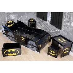 Batman Kidsaw Furniture Range: Batman Kidsaw Bed (RRP / Batman Kidsaw  Toybox, Desk U0026 Chair And Bedside Table From GBP / Available From    Character World