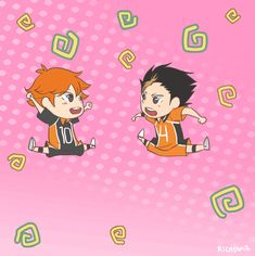 wonderfulworldofmoi:  I enjoyed animating bouncing Hinata so much that I decided to make Noya join him. Just in case anyone wanted bouncing shorties in their dash.