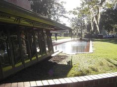 Auldbrass Plantation / Beaufort County, Yemassee, South Carolina / 1940-51 / Frank Lloyd Wright -- Wright had an intense commitment to Auldbrass, and worked on it, off and on, for over 20 years, from 1938 until his death in 1959. Because Auldbrass was private and fell into disrepair in the 1960's it was rarely photographed or published, and as a consequence, little has been known about this major work.
