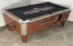 VALLEY COMMERCIAL 7' COIN-OP BAR SIZE POOL TABLE MODEL ZD-5 REFURB HARLEY CLOTH
