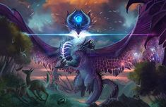 Dream Fantasy, Fantasy Dragon, Fantasy Art, Dungeons And Dragons, Dnd Dragons, Fantasy Creatures, Mythical Creatures, Creatures 3, Alien Concept Art
