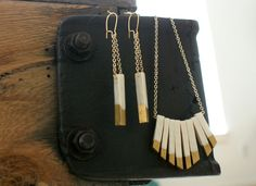 DIY Gilded Jewelry... more polymer clay tutorials