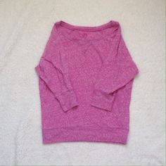 Pink 3/4 sleeve shirt Normal wear. Size medium. Has light pilling all over but not noticeable when wearing. Smoke and pet free home. Happy Poshing!  Tops Blouses