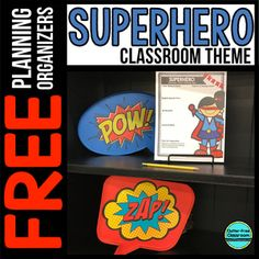 Your interest in getting the SUPERHERO Themed Classroom Planning Organizers tells me that you are a teacher who is striving to create a beautiful learning environment for your. Superhero Classroom Theme, Classroom Themes, Purple Chevron, Blue Polka Dots, Learning Environments, Elementary Teacher, Modern Prints, Color Schemes, School Ideas