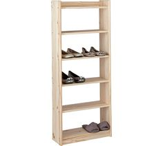 Home Unfinished 6 Shelf Storage Unit Solid Pine At Argos Co