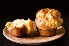 Black Pepper Popovers with Chives and Parmesan - Trey must have these whenever I make soup.  He wipe out the puppy dog eyes...