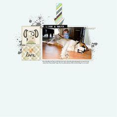 Fluffy & Fido #Digital #Scrapbooking Layout from Creative Memories    http://www.creativememories.com