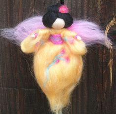 Wool Angel - Japanese Geisha Fairy - Made to order- needle felted fairy- Waldorf-inspired. $30.00, via Etsy.