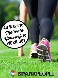 40 Things to Try When You Don't Want to Work Out. Awesome tips to get your #motivation back!!