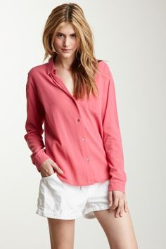James Perse Long Sleeve Relaxed Classic Shirt - love this comfy look, and the color