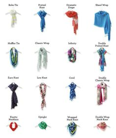 I am always looking for new ways to tie my scarf!