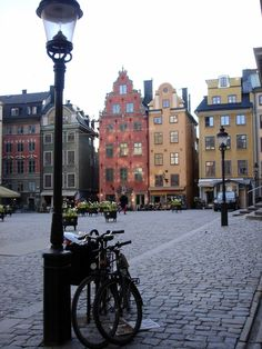 Gamla Stan, Stockholm. I would take any penthouse in any of these building. a view of the castle, a view of the water and a view of some great people.