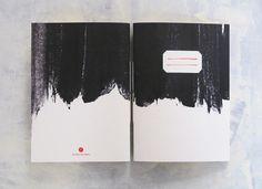 Black brushstrokes notebook  minimal black and by 10antemeridiem