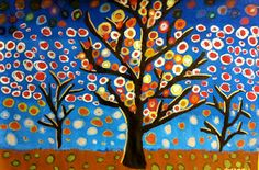 6th Grade Patterned Tree Designs   I found inspiration for this lesson on Pinterest. The pictures were by T. R. Mack and Amy Giacomelli...