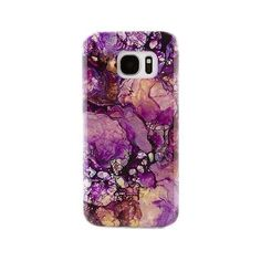 Purple Galaxy Marble Samsung S7 Case ($20) ❤ liked on Polyvore featuring accessories, tech accessories and samsung