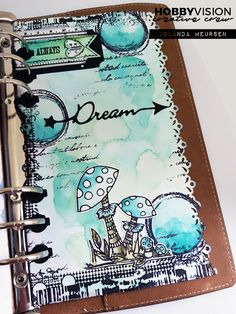 HobbyVision Creative Crew: Planner pagina watercolor (rechterkant van spread)