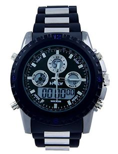 Hpolw Men's Sport Watch with Black and Silver Belt (Black) HPOLW http://www.amazon.com/dp/B00WJGTTD2/ref=cm_sw_r_pi_dp_natEvb16X82N9