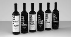 A Playful Collection Of Wine Labels That Makes Choosing One Easier - DesignTAXI.com The creative minds at Realist Branding have given us the solution to choosing that perfect wine for the festive season.