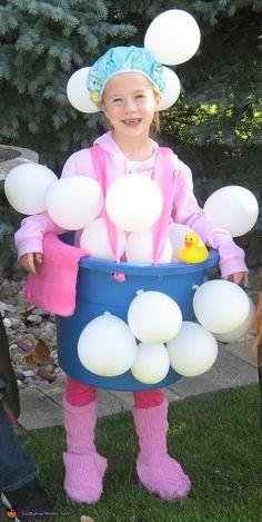 Bathtub and Bubbles - DIY Halloween Costume