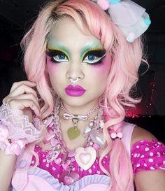 Am I wearing enough pink yet?  Eyes: @sugarpill eyeshadows @inglot_usa gel liner; Lips: #sugarpill Girl Crush lipstick (coming Jan 2016!!); Septum ring: @lotusandco; Choker: @mantrap1989  by shrinkle You can follow me at @JayneKitsch