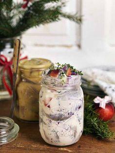 Stoltsera med hemgjord julsill