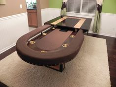 Custom Round Poker Table with Dining Top, choice of colors, felt ...