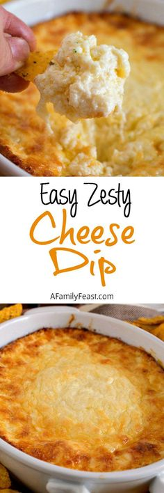 This Easy Zesty Cheese Dip is perfect for any game day or holiday party. The ultimate appetizer! This Easy Zesty Cheese Dip is perfect for any game day or holiday party. The ultimate appetizer! Cheese Appetizers, Yummy Appetizers, Appetizers For Party, Appetizer Recipes, Cheese Dips, Easy Appetizer Dips, Easy Party Dips, Baked Dip Recipes, Easy Dip Recipes