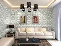 Painéis fotográficos e geométricos em 3D na decoração!