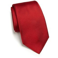 RVR Textured Silk Tie ($200) ❤ liked on Polyvore featuring men's fashion, men's accessories, men's neckwear, ties, apparel & accessories and red